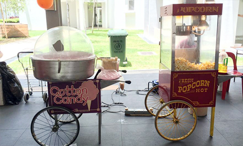 Candy Floss Popcorn Station